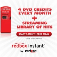 Redbox Instant Streaming Deal | 4 FREE DVD Credits Each Month