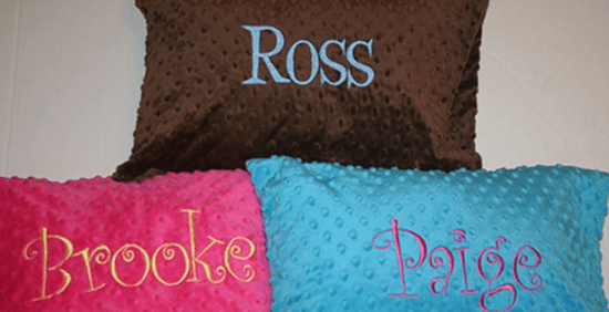Personalized Minky Pillowcase
