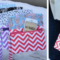 Chevron Wristlet For $8.95