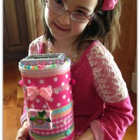 DIY Valentine Box Craft: Upcycled Oatmeal Container