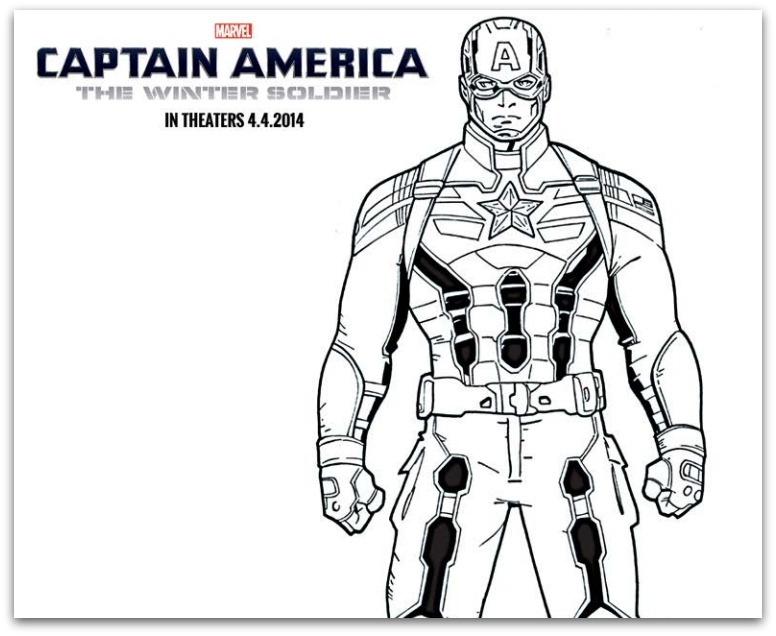 free captain america the winter soldier coloring sheets