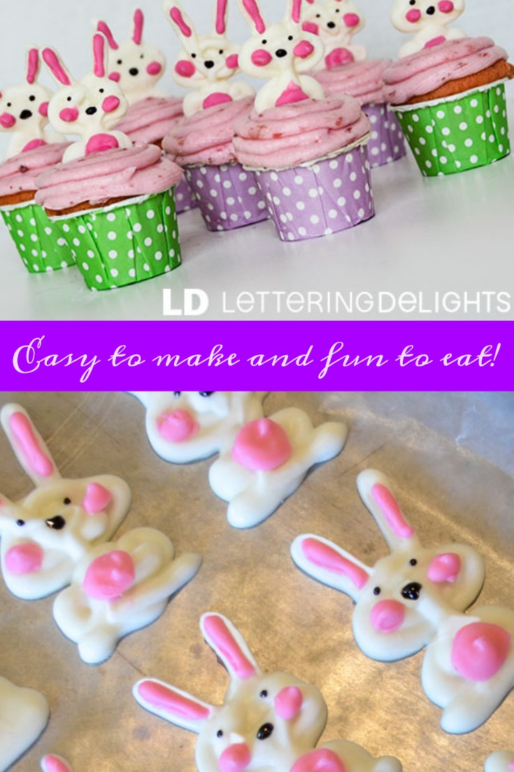 These cute Bunny Cupcake Toppers are so easy and fun to make for Easter!