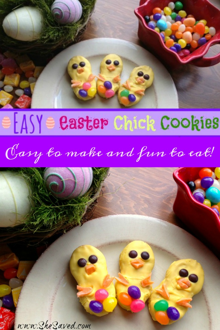 These easy Easter Chick Cookies are made with Nutter Butter cookies and are so fun to make!