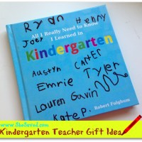 Great Gift Idea for Kindergarten Teachers