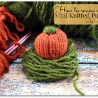 DIY Mini Knitted Pumpkin