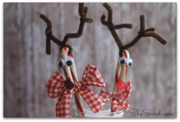 Reindeer Candy Cane