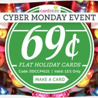 Cardstore.com 69¢ Flat Holiday Cards