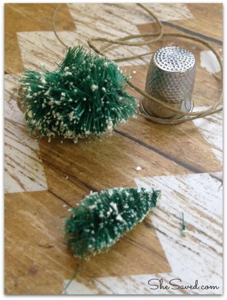 thimble Christmas tree