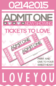 Ticket to Love Coupon