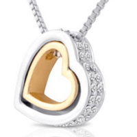 Double Open Heart Necklace For $19.99 Shipped