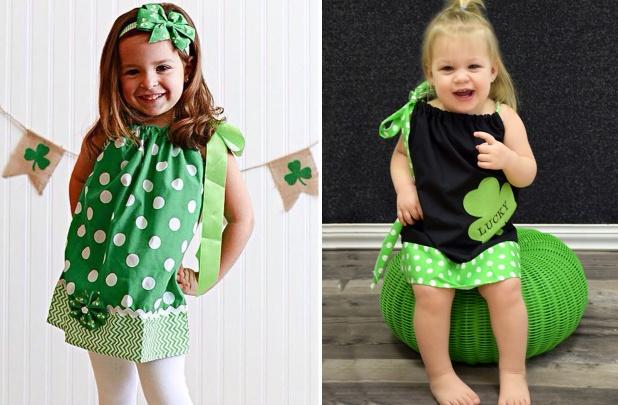 St. Patty's Day Pillowcase Dresses