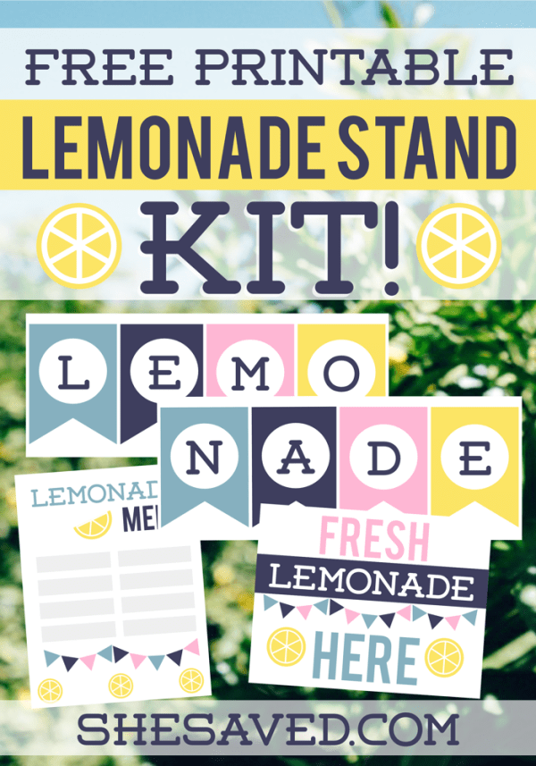 Free Printable Lemonade Stand Kit