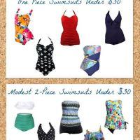 She Saved on Fashion: Modest Swimsuit Options Under $30