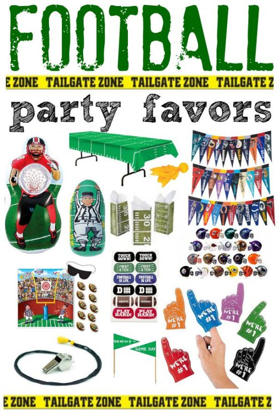 Make sure to save these Football Party Favor Ideas for your next football gathering! Win or lose, these are affordable and fun ideas that will add some fun to your football themed party!