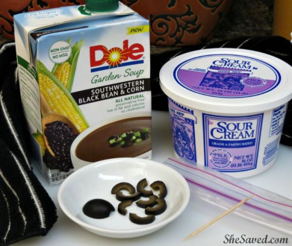 Just a few ingredients and you can make a spooky and delicious spiderweb soup