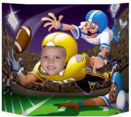 Use this fun football photo prop to capture fun memories of your football party!