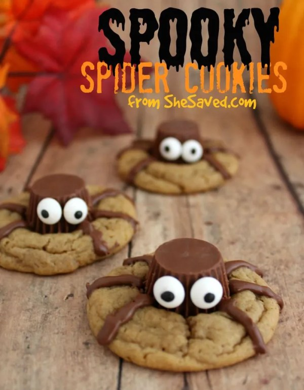 These spooky spider cookies are so fun and so easy to make!