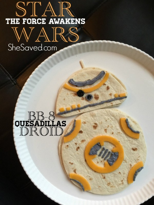 Make your STAR WARS fans this fun Star Wars Treat with these BB-8 Quesadillas. This Star Wars inspired snack is sure to excite any fan!