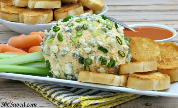 My Buffalo Cheese Ball recipe will be a huge hit at your next football party and a sure SCORE with buffalo chicken fans!