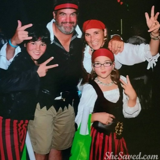 You never know what kind of fun you'll have at Beaches. We became a festive Beaches Pirate Family!