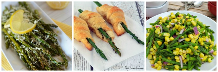 Asparagus is such an easy side to add to any meal and these delicious asparagus recipes will be a hit with your crowd!