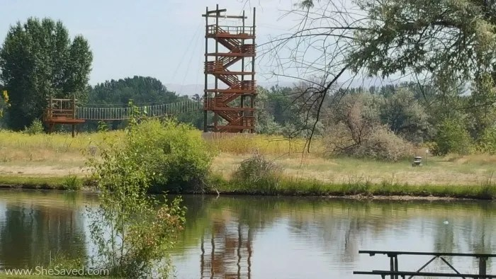 For the braver visitors, Eagle Island State Park in Idaho also features a zipline!