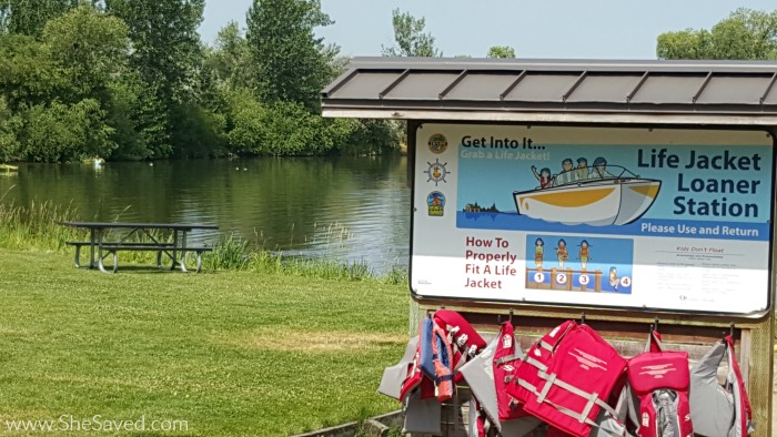 To ensure that everyone has a safe and enjoyable time in the water, Eagle Island State Park offers the FREE use of lifejackets