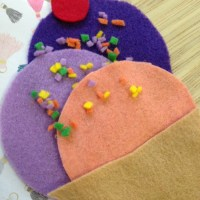 Felt Ice Cream Cone Craft for Kids