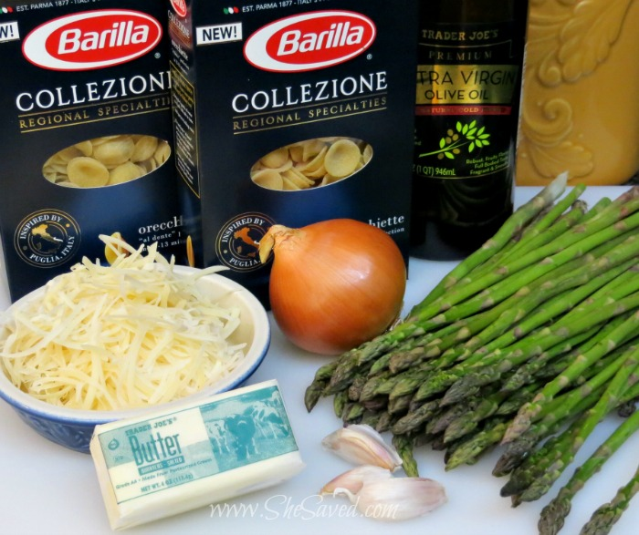Ingredients for Asparagus Pasta Salad