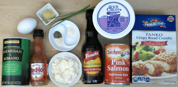 Ingredients for Salmon Patties