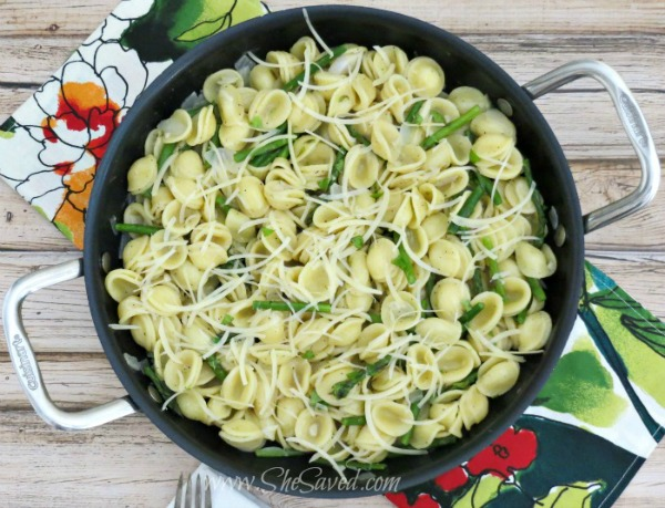 Asparagus Pasta Salad from She Saved