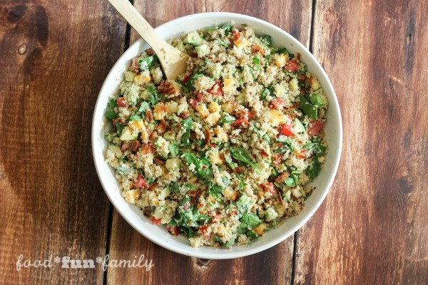 Avocado Bacon Ranch Quinoa Salad from Food Fun Family