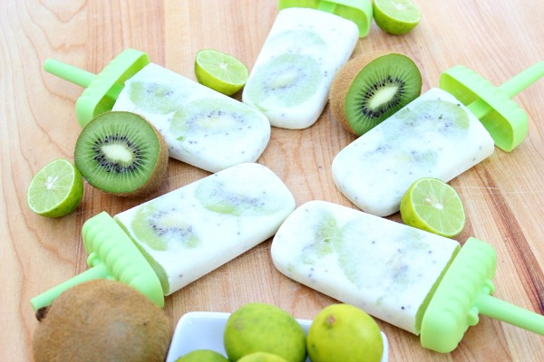 Creamy Kiwi Key Lime Popsicles from The Domestic Lifestylist