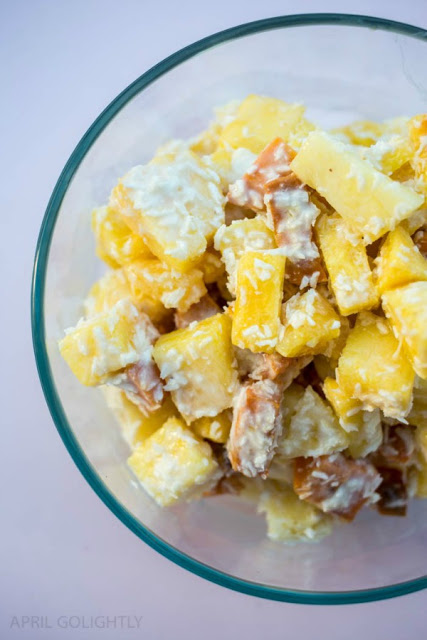 Easy Pina Colada Salad from April GoLightly