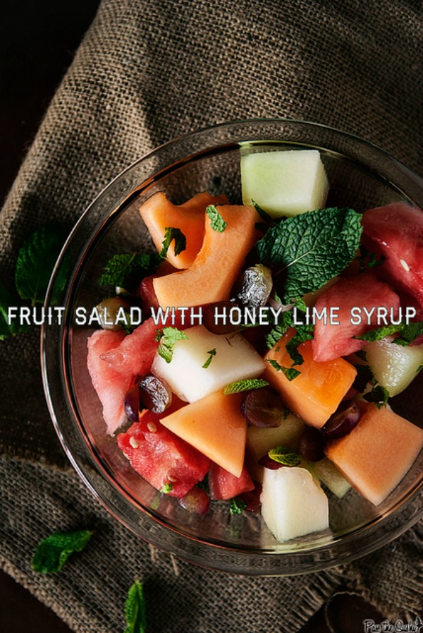 Fresh Fruit Salad with Honey Lime Syrup from Pass the Sushi