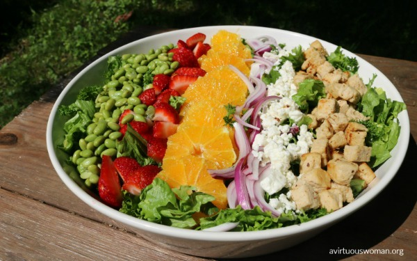 Summer Fresh Salad from A Virtuous Woman