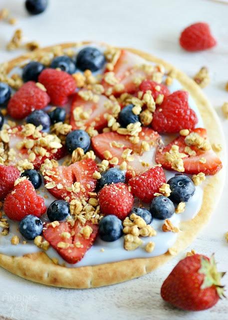 Yogurt Fruit Breakfast Pizza from Finding Zest