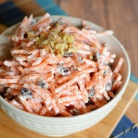 Side Dish: Easy Carrot Raisin Salad