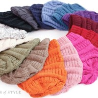 Slouchy Knit Beanie: TWO for $20 + FREE SHIPPING