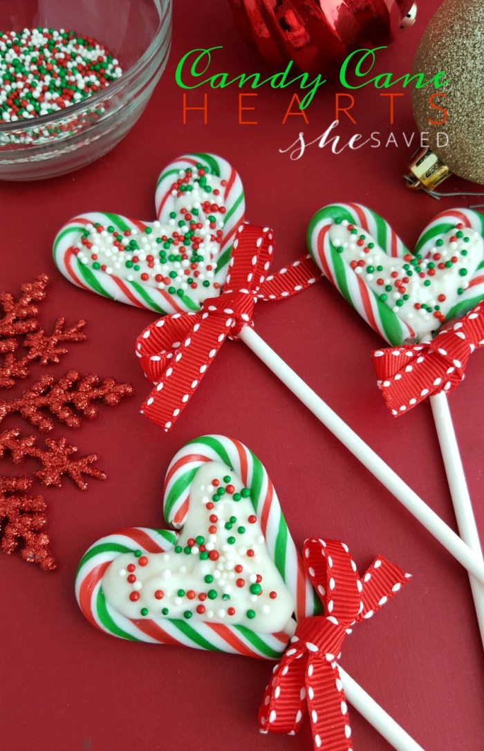 These Candy Cane Hearts are so easy and fun to make, and a great gift idea!