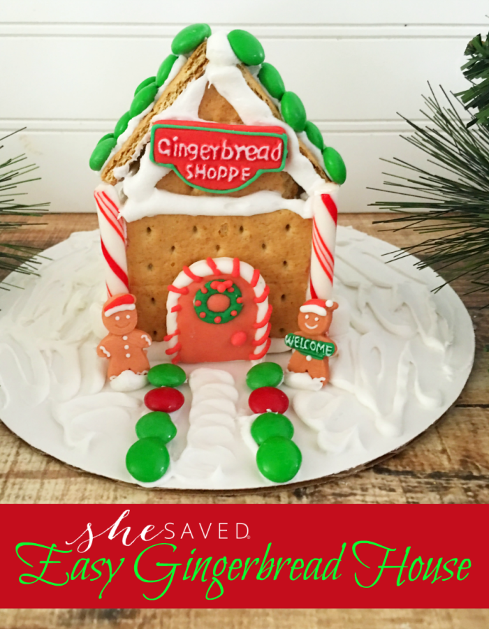 Gingerbread houses don't have to be complicated! Check out this fun and easy gingerbread house recipe for a simple activity for the entire family! Great for classroom parties too!
