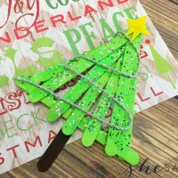 Popsicle Christmas Tree Craft
