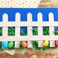 Easy Easter Craft for Preschool: Easter Fence Project