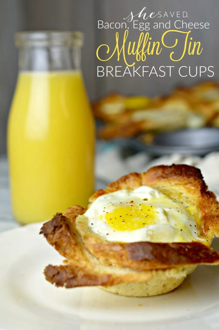 These Bacon, Egg and Cheese Muffin Tin Breakfast Cups are a simple and delicious breakfast that your family will love!