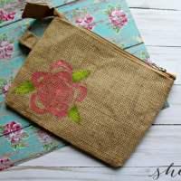 Celery Flower Stamp Clutch