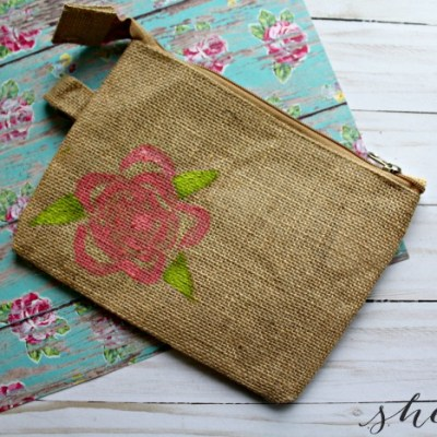 Celery Flower Stamp Clutch