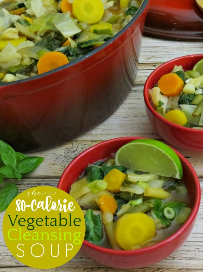 Perfect for staying or getting back on track, make this Vegetable Cleansing Soup your go to detox meal!