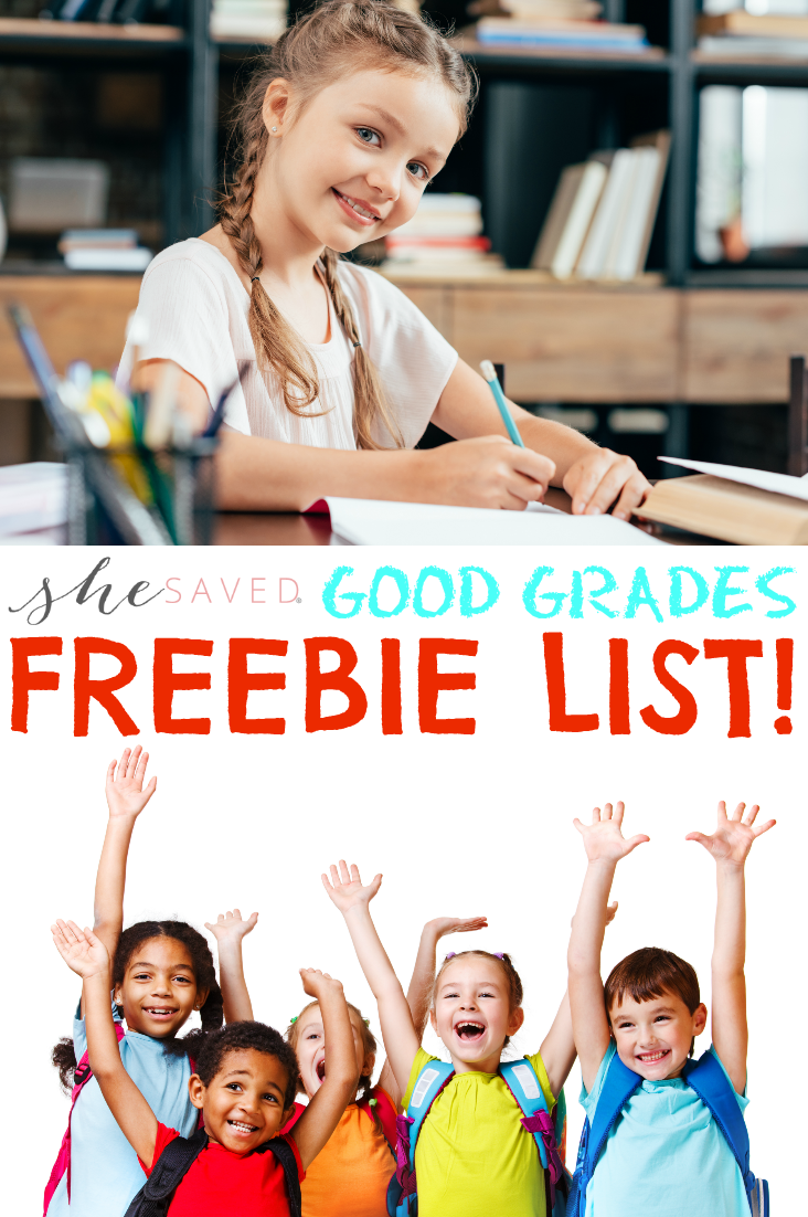 Yay for FREE STUFF! Save this Good Grades Freebie List to score great rewards for good grades!