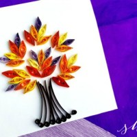 Paper Quilling Project: Quilled Fall Tree Craft