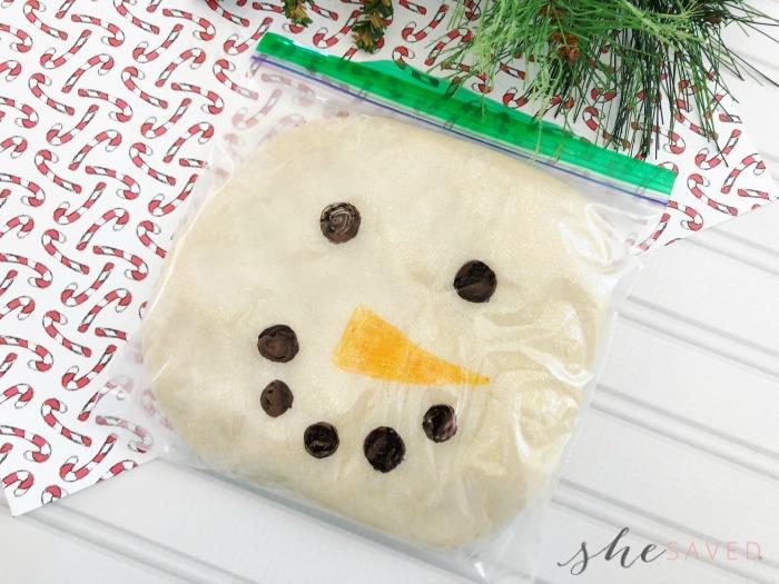 snowman playdough